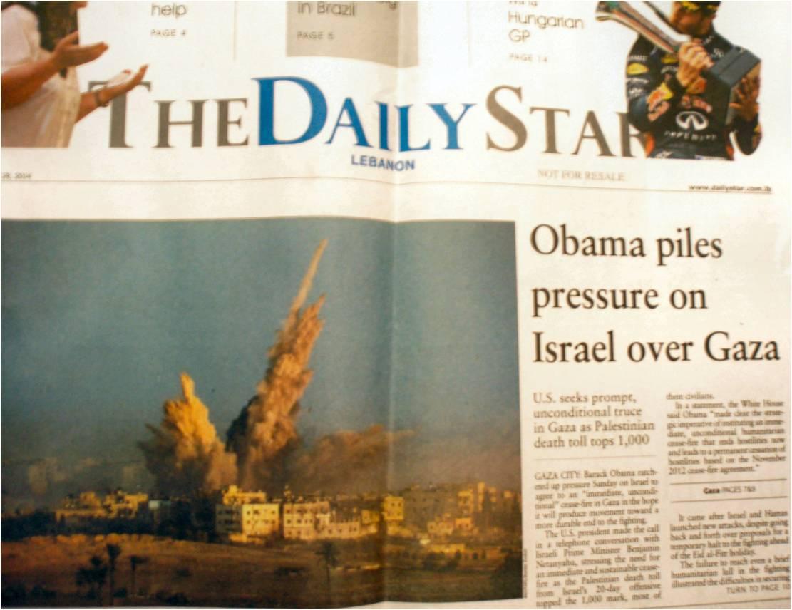 The Daily star - 1° pagina 28 luglio